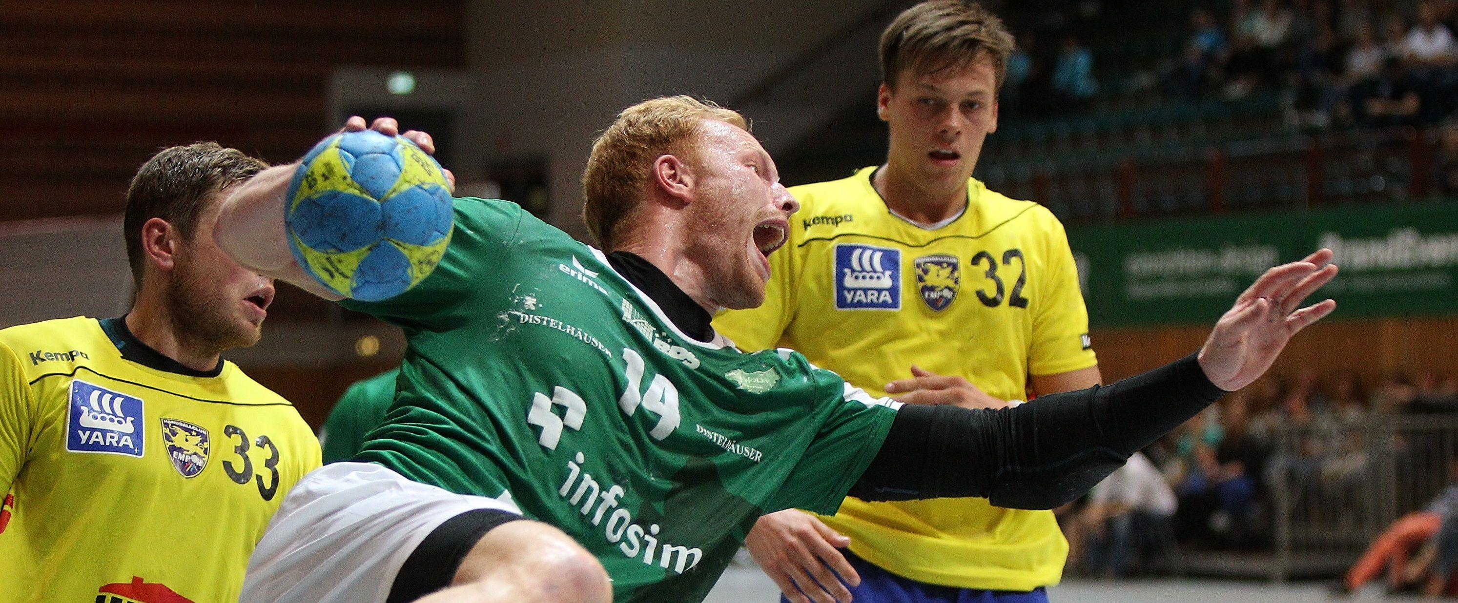DKB 2. Handball-Bundesliga, DJK Rimpar Wölfe – HC Empor Rostock