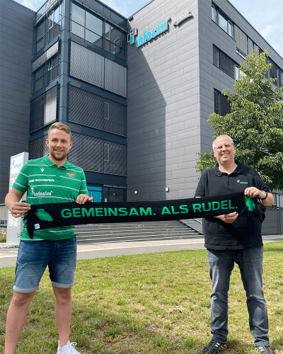 Hauptsponsor bleibt weiterhin an Bord - Infosim® bleibt den DJK Rimpar Wölfe treu!