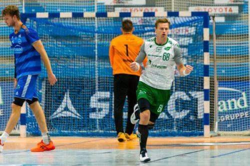 Julian Sauer im Spiel gegen TSV Bayer Dormagen