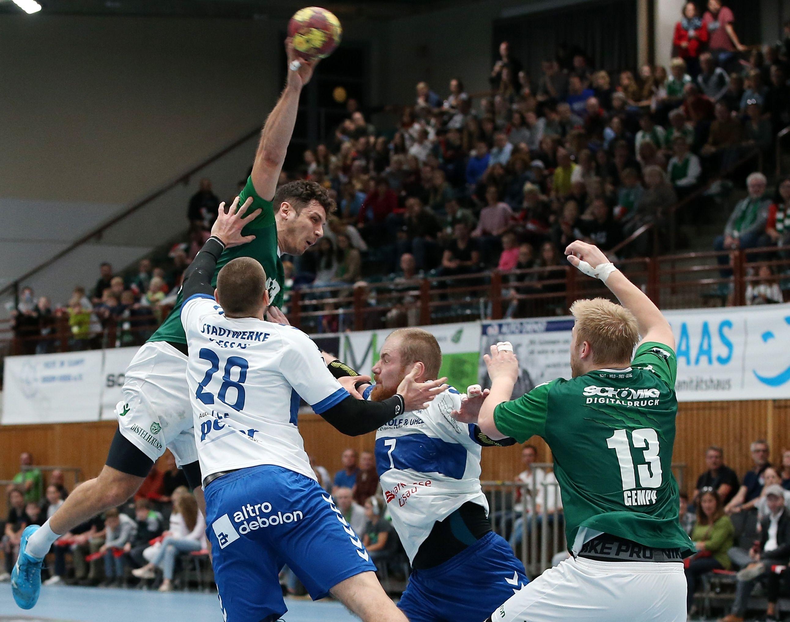 DKB 2. Handball-Bundesliga, DJK Rimpar Wölfe – Dessau-Rosslauer HV 06