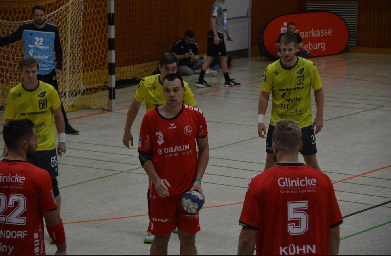 MT Melsungen vs. Rimpar Wölfe im DHB-Pokal in Niederroden (Foto: Lukas Schmitt)