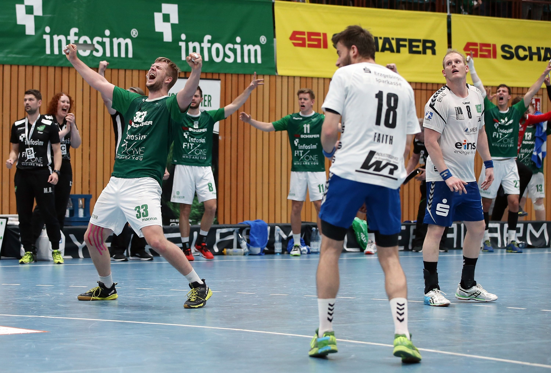 DKB 2. Handball-Bundesliga, DJK Rimpar Wölfe - EHV Aue