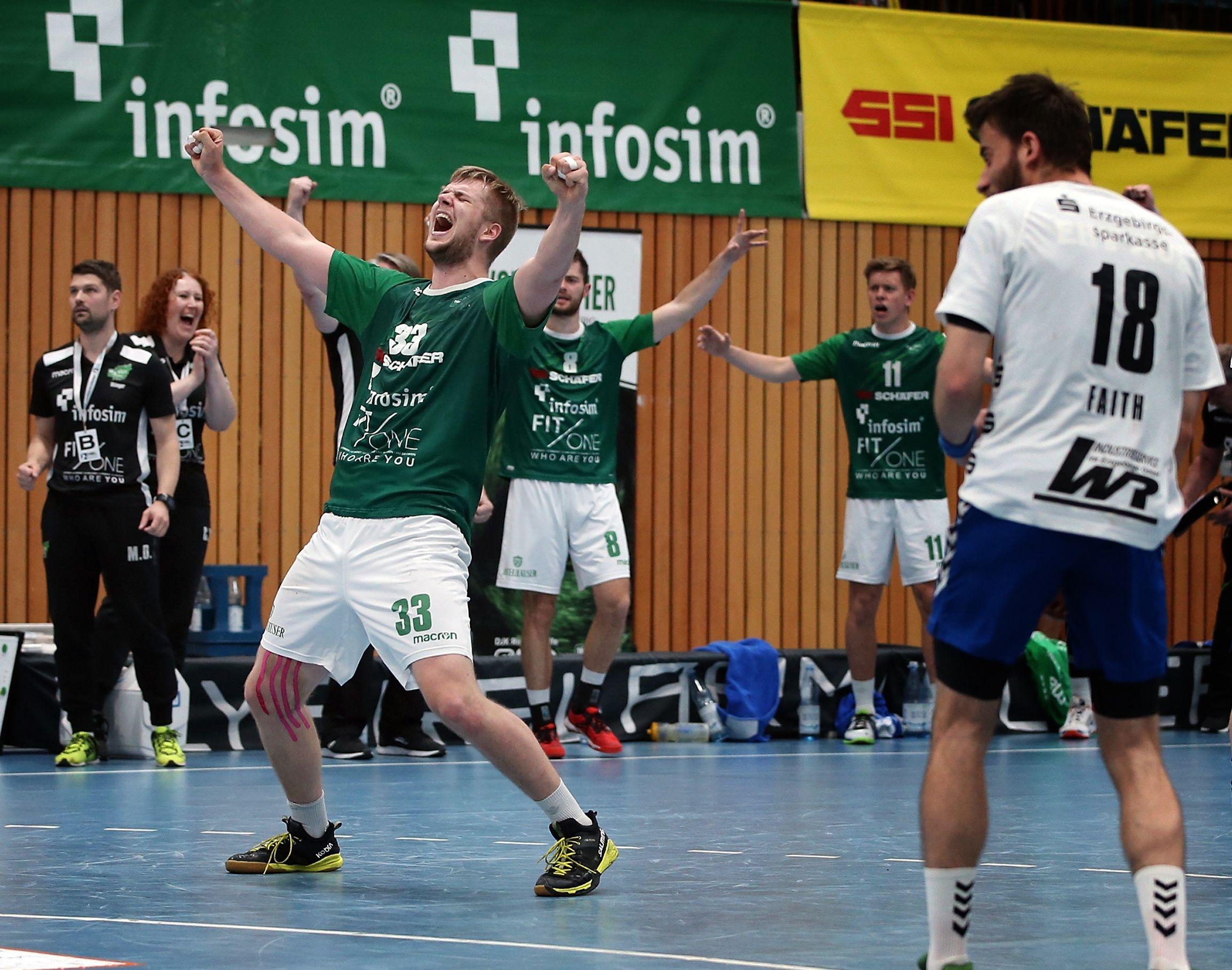 DKB 2. Handball-Bundesliga, DJK Rimpar Wölfe – EHV Aue