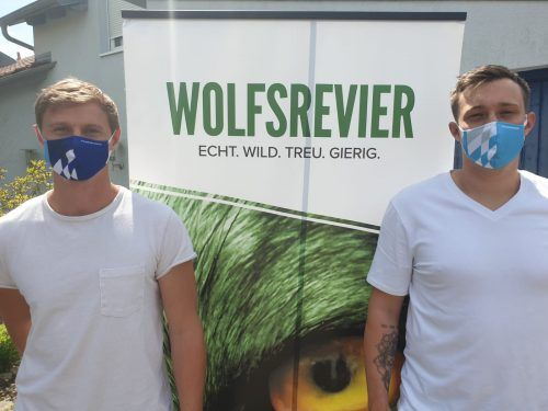 Julian Sauer und Patrick Schmitt unterstützen Kampf gegen Corona unter dem Hashtag #Handballkannhelfen!, einer Aktion des BHV
