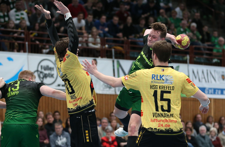 2. Handball-Bundesliga, DJK Rimpar Wölfe - HSG Krefeld